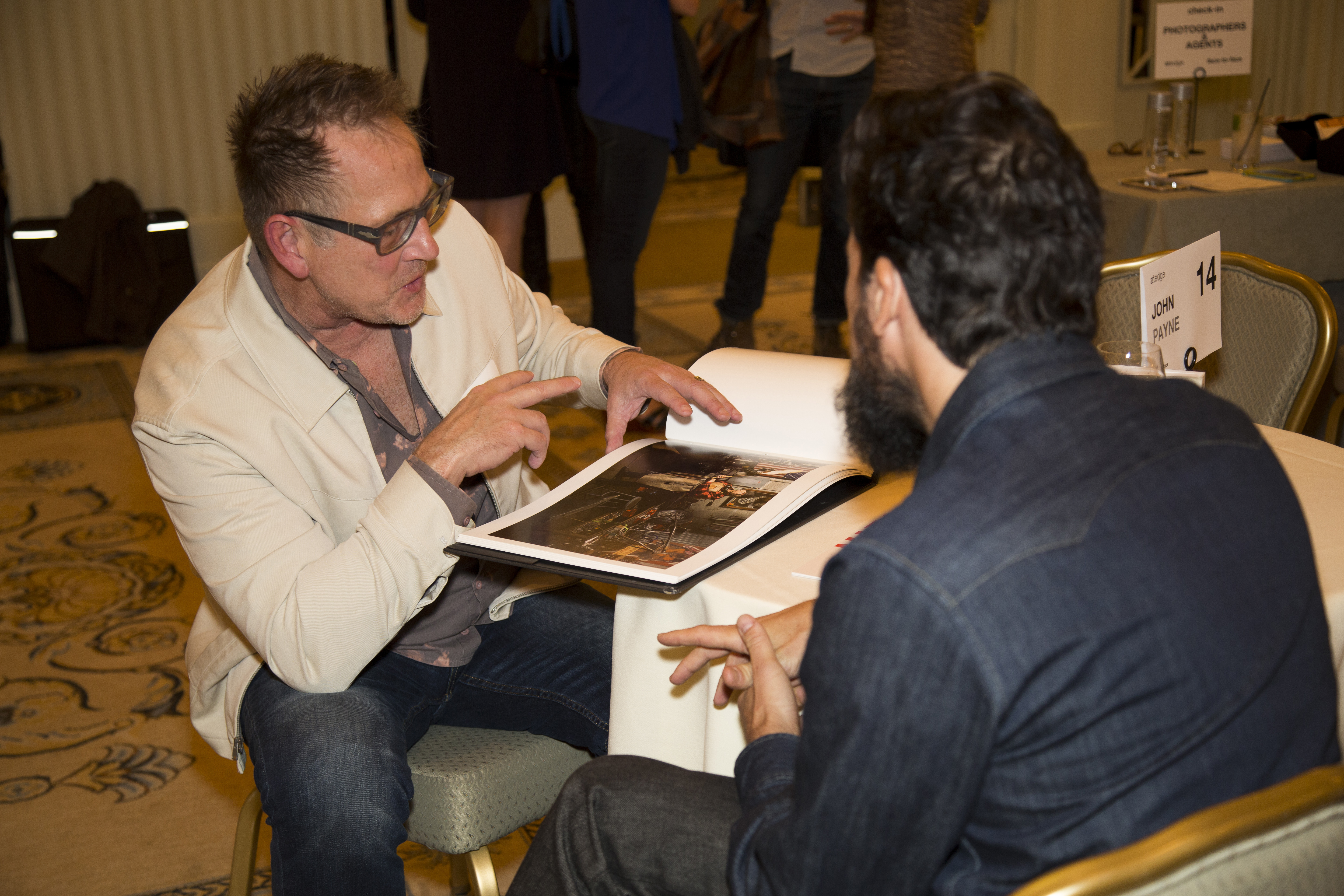 Saatchi Creative Director John Payne face-to-face with JJ Sulin.