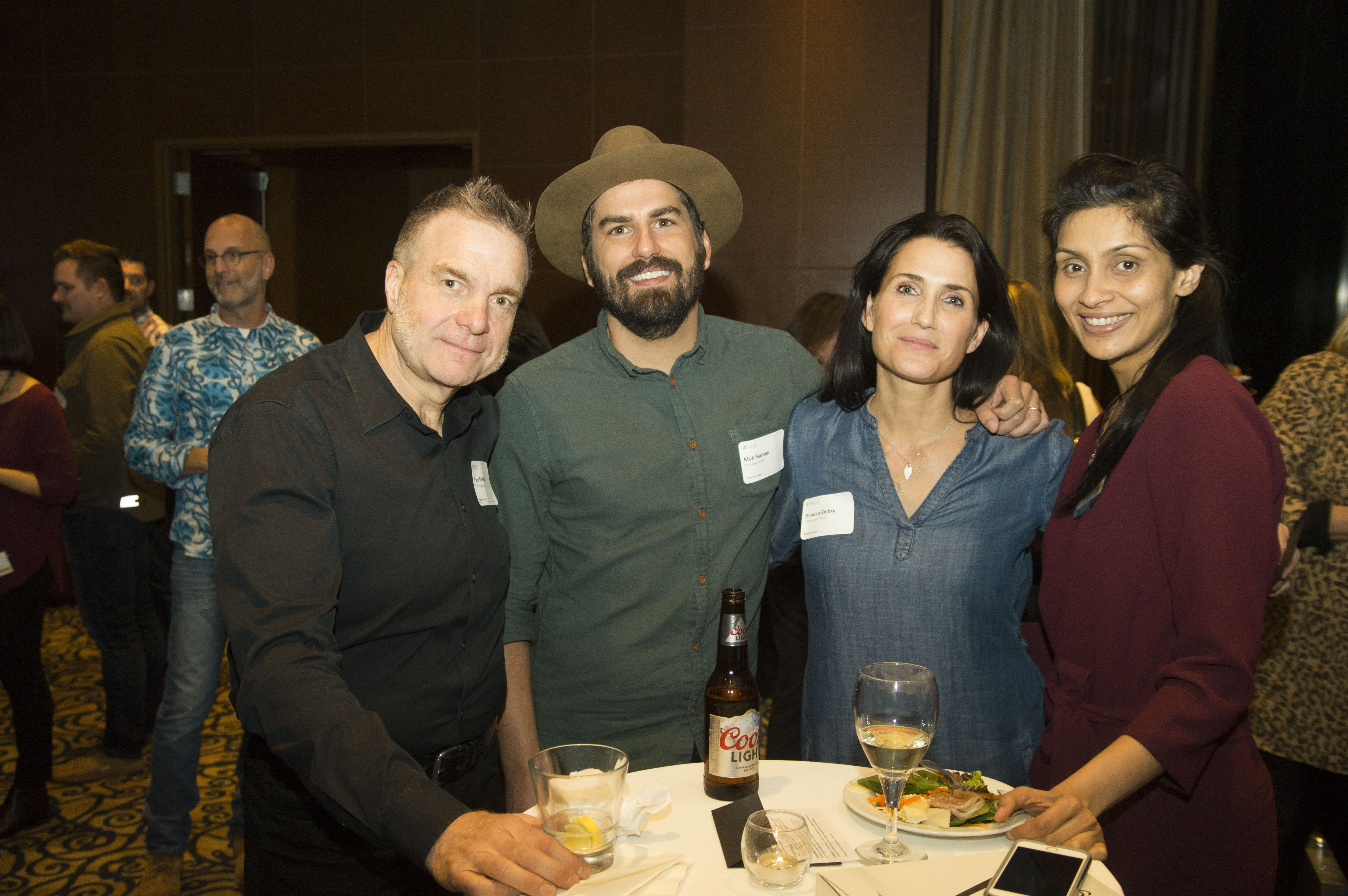 L to R: Photographers (Dana Hursey in the background) Paul Elledge, Matt Sartain & Brooke Embry with Puja Shah of Carmicheal Lynch