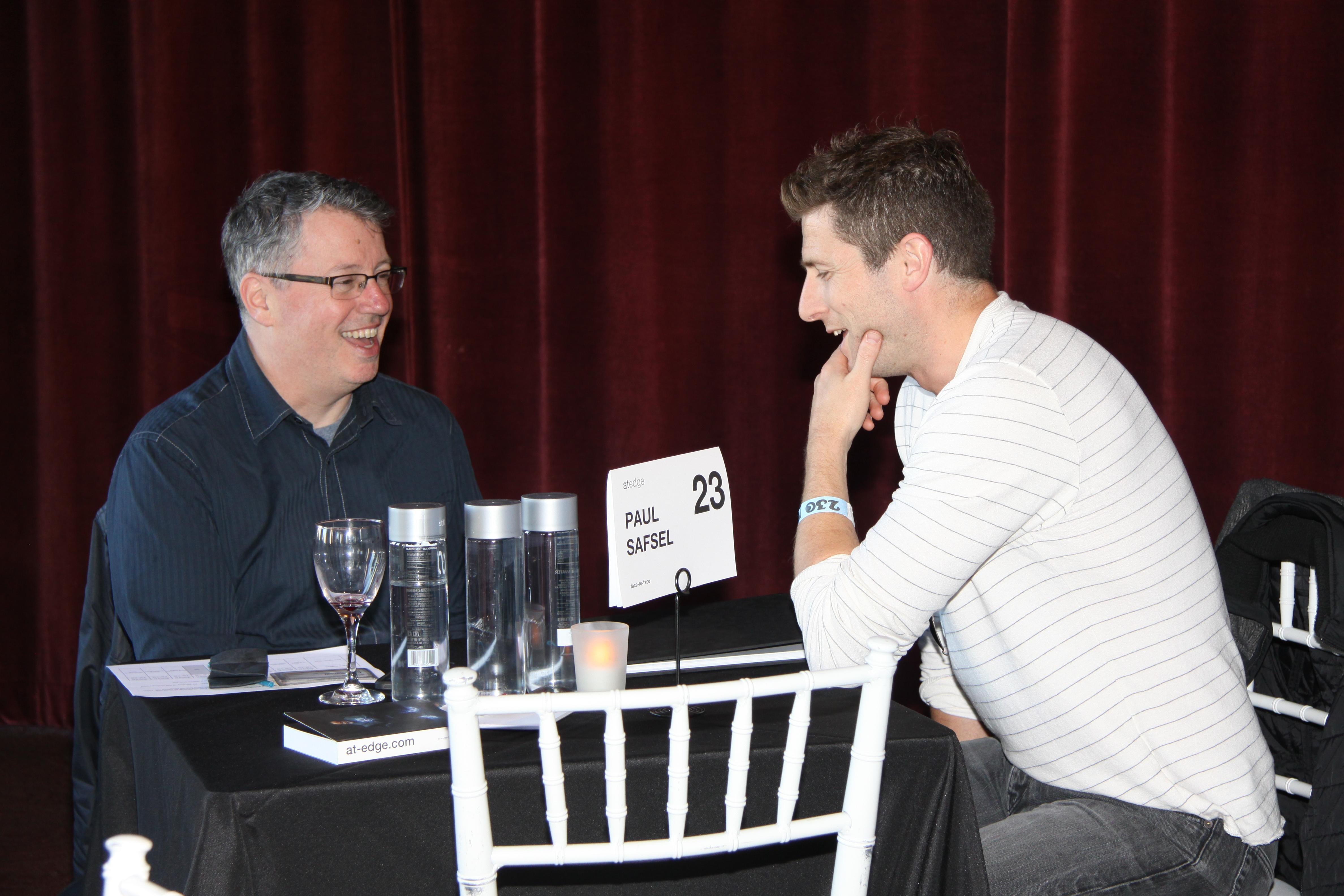 Paul Safsel with photographer Nick Hall