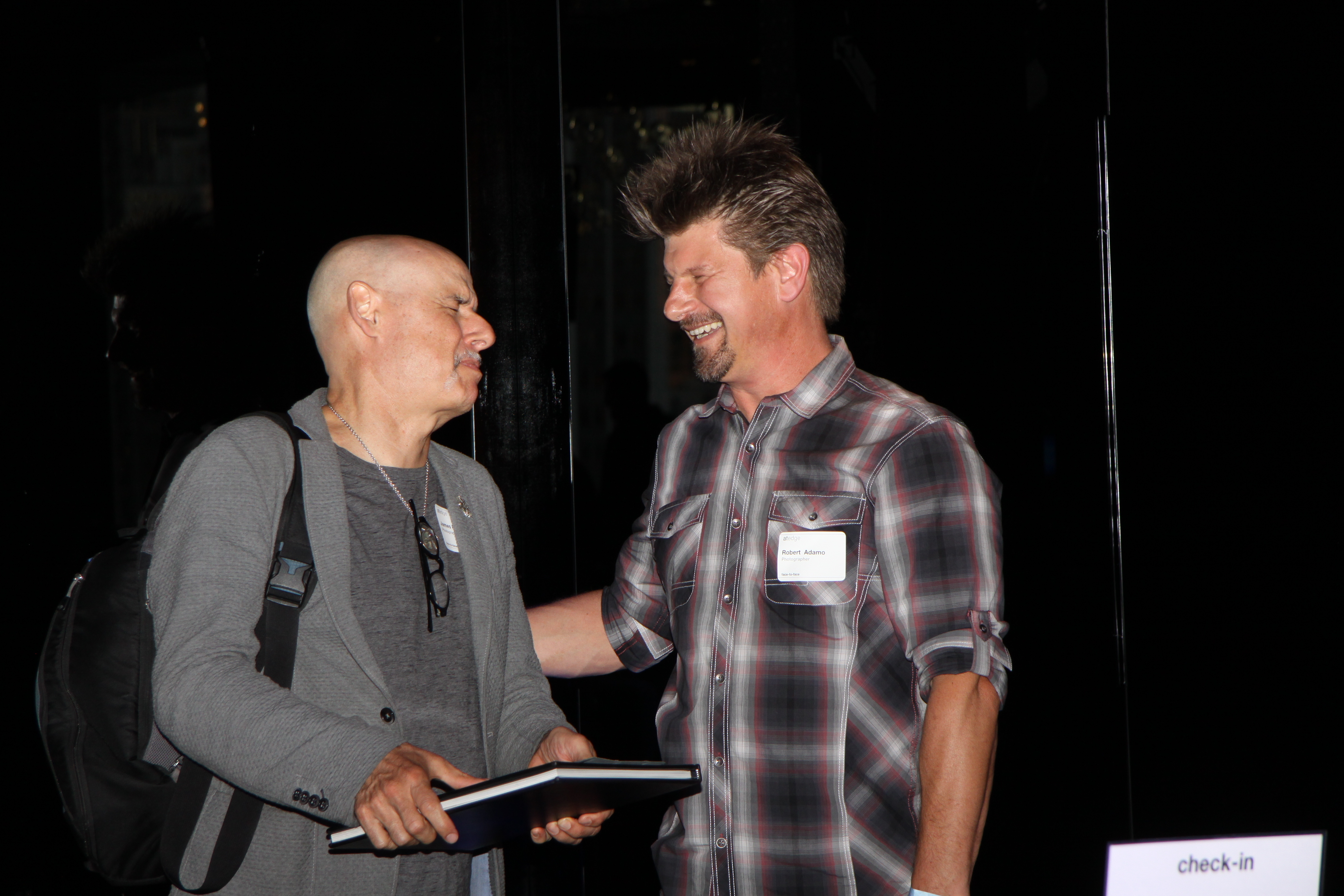 Photographers James Porto (left) and Robert Adumo