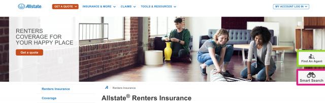 Allstate wide web banner
