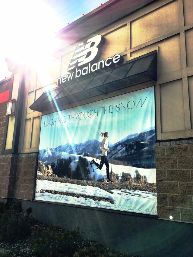 New Balance stores using images from winter shoot.