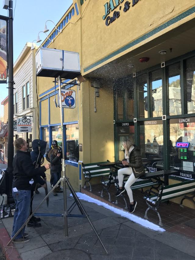 Making it Snow on Park City's Main Street.